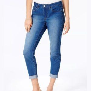 Maison Jules Cuffed Slim Boyfriend Capris Jeans